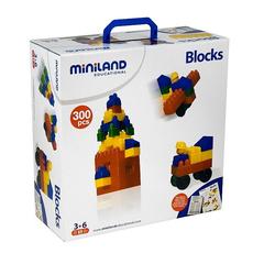 Joc de constructii Caramizi Miniland 300 buc, image 1