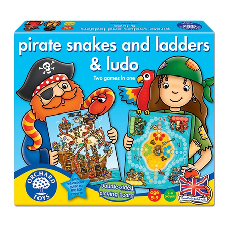 Joc de societate Piratii PIRATE SNAKES AND LADDERS & LUDO Orchard Toys, image 1