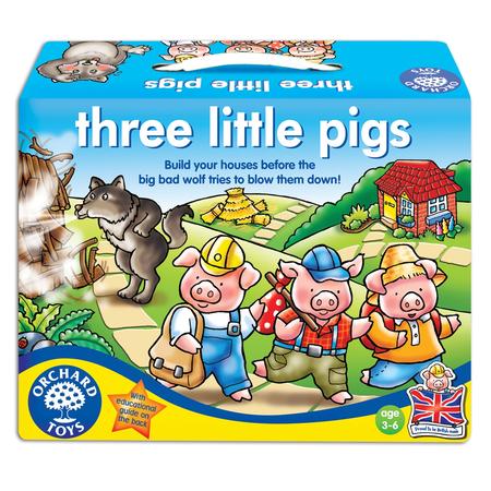 Joc de societate Cei trei prcelusi THREE LITTLE PIGS Orchard Toys, image 1
