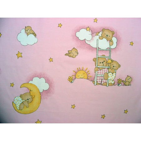 Lenjerie patut Hubners Ursulet Somn Usor 5 piese roz, image 2