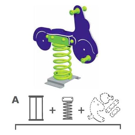 Balansoar pe arcuri Scooter Varianta - Ingropat KBT, image 2