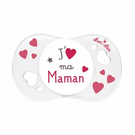 Suzeta silicon SYM J'aime ma maman, Luc et Lea, 0-6 luni, image 1