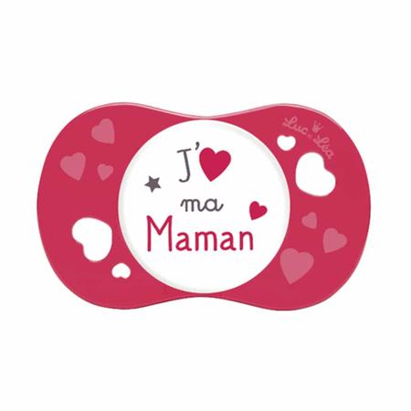 Suzeta silicon SYM J'aime ma maman, Luc et Lea, 6 luni +, image 1