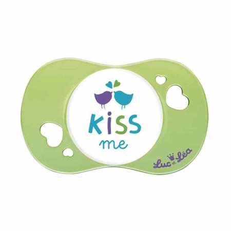 Suzeta fiziologica Kiss me, Luc et Lea, 6 luni+, image 1