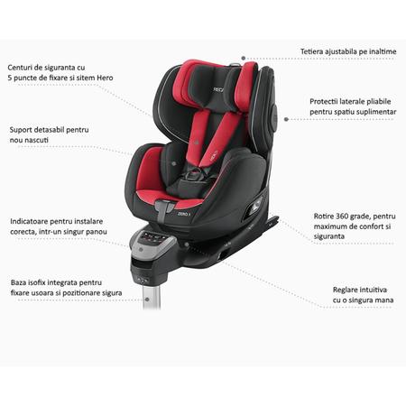 Scaun Auto pentru Copii Zero.1 R129 Aluminium Grey, image 2
