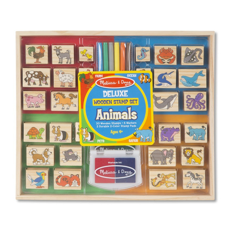 Set stampile din lemn Animale Deluxe, image 1