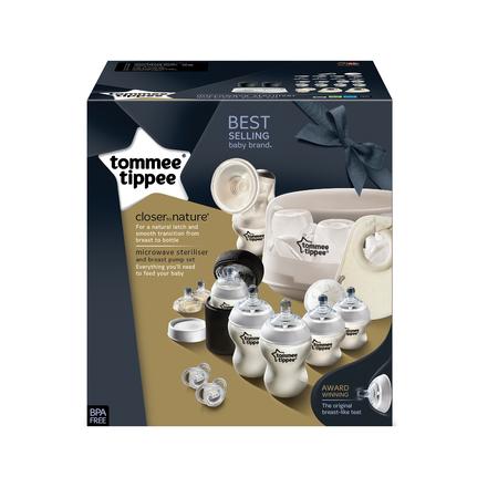 Set sterilizator pentru microunde si pompa de san manuala, Tommee Tippee, image 1