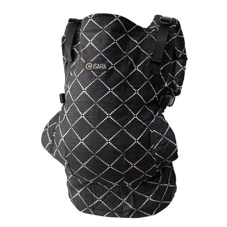 Marsupiu Toddler Organic Diamonda Black Denim Isara, image 1