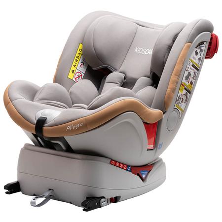 Scaun auto Allegra rotativ cu Isofix 0-36kg gri KidsCare, image 4