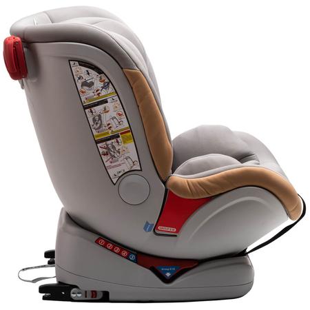 Scaun auto Allegra rotativ cu Isofix 0-36kg gri KidsCare, image 8