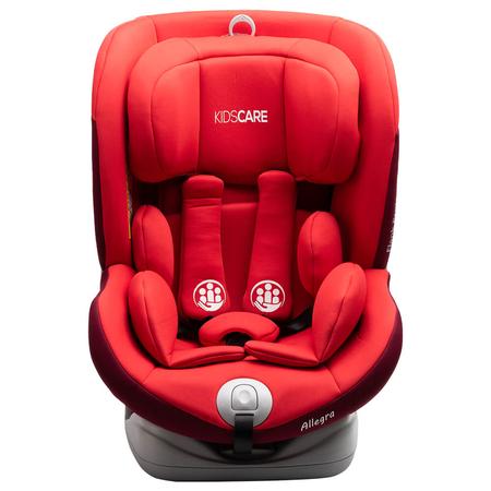 Scaun auto Allegra rotativ cu Isofix 0-36kg rosu KidsCare, image 2