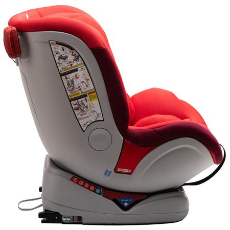 Scaun auto Allegra rotativ cu Isofix 0-36kg rosu KidsCare, image 8