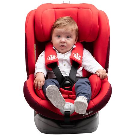 Scaun auto Allegra rotativ cu Isofix 0-36kg rosu KidsCare, image 10