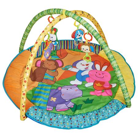 Salteluta de joaca rotunda animalutele vesele Kidscare, image 3