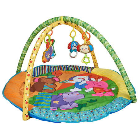 Salteluta de joaca rotunda animalutele vesele Kidscare, image 1