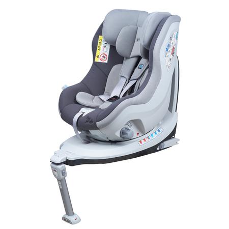 Scaun auto Rear Facing rotativ Tiago 0-18 kg gri KidsCare, image 7