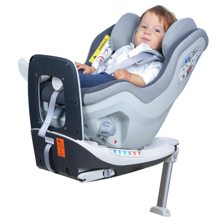 Scaun auto Rear Facing rotativ Tiago 0-18 kg gri KidsCare, image 8