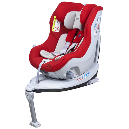 Scaun auto Rear Facing rotativ Tiago 0-18 kg rosu KidsCare, image 6
