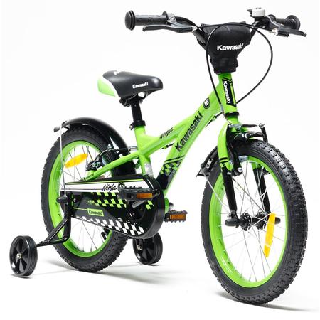 Bicicleta copii Kawasaki NINJA 16 green by Merida Italy, image 1
