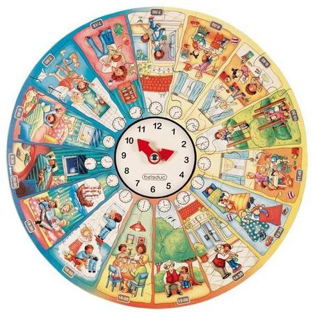 Puzzle circular Invata ceasul Beleduc, image 4